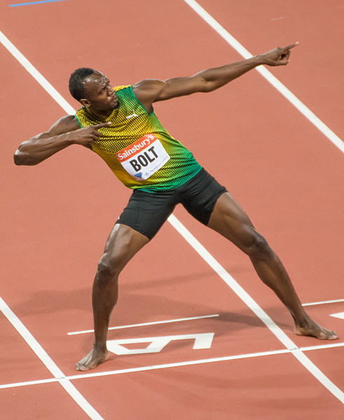Usain Bolt (photo from Wikimedia Commons)