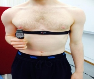 Polar heart rate monitor and sensor (photo credit Dr. Nicole Burns)