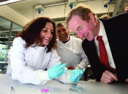 Dr Sarah Gundy, Professor Abhay Pandit and An Taoiseach Enda Kenny at the official opening of the €30 million NUI Galway Biosciences Building which hosts the NFB