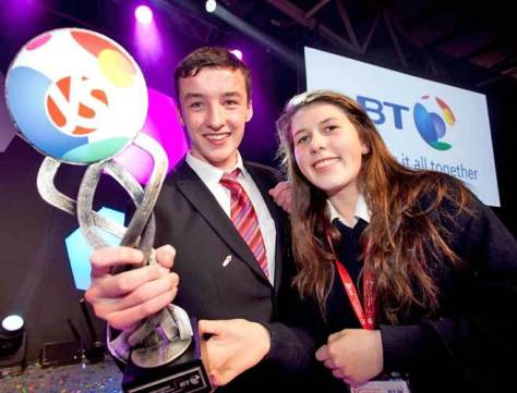 Ian O'Sullivan and Eimear Murphy, 2015 BTYSTE Winners. (Photo credit Fennel Photography)