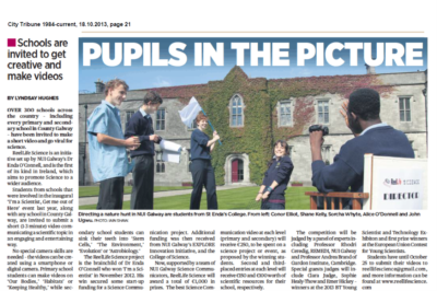 Pupils In The Picture - City Tribune, October 18th 2013