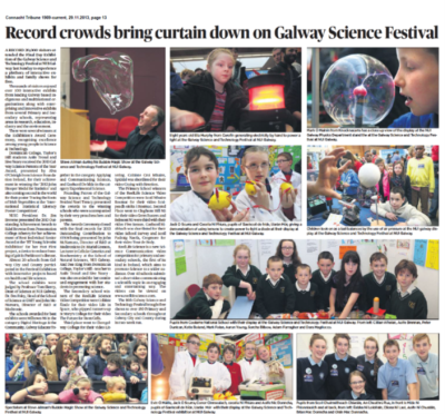 Record crowds bring curtain down on Galway Science Festival - Connacht Tribune, November 29th 2013