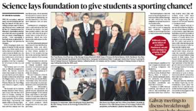 Science lays foundation to give students a sporting chance - Connacht Tribune, October 18th 2013