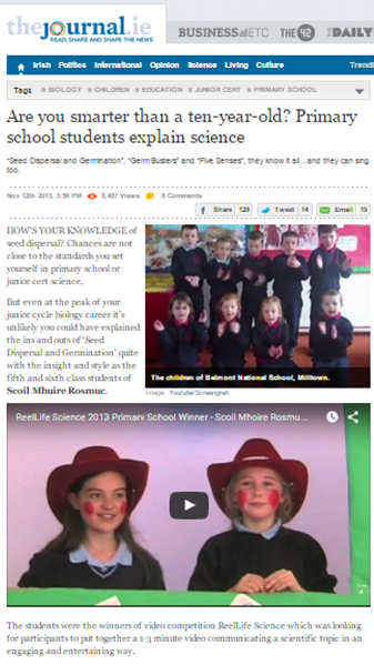 Are you smarter than a ten-year-old? Primary school students explain science - TheJournal.ie, November 12th 2013
