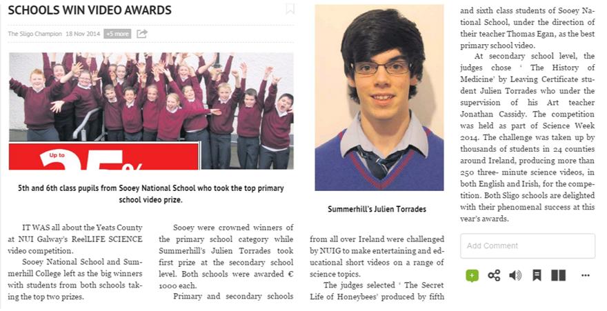 2014 Sligo Champion Nov